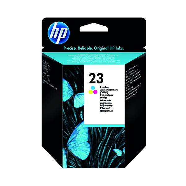 HP 23 Cyan/Magenta/Yellow Inkjet Cartridge (640 page capacity) C1823D