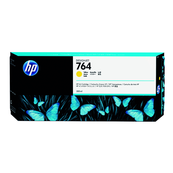 HP 764 Yellow Designjet Ink Cartridge C1Q15A