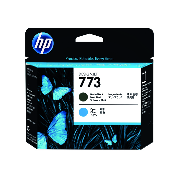 HP 773 Matte Black and Cyan Original Designjet Printhead C1Q20A