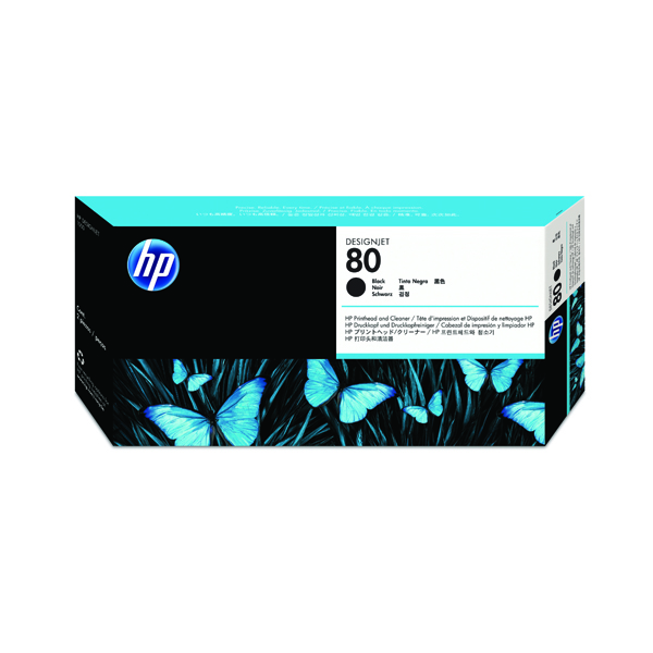 HP 80 Black Printhead and Printhead Cleaner Kit C4820A