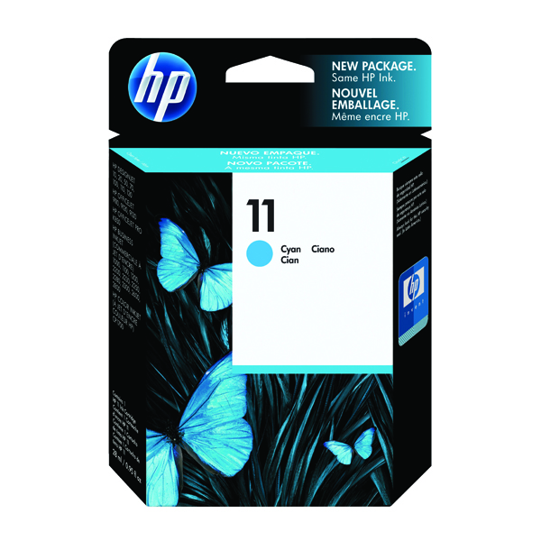 HP 11 Cyan Inkjet Print Cartridge C4836A