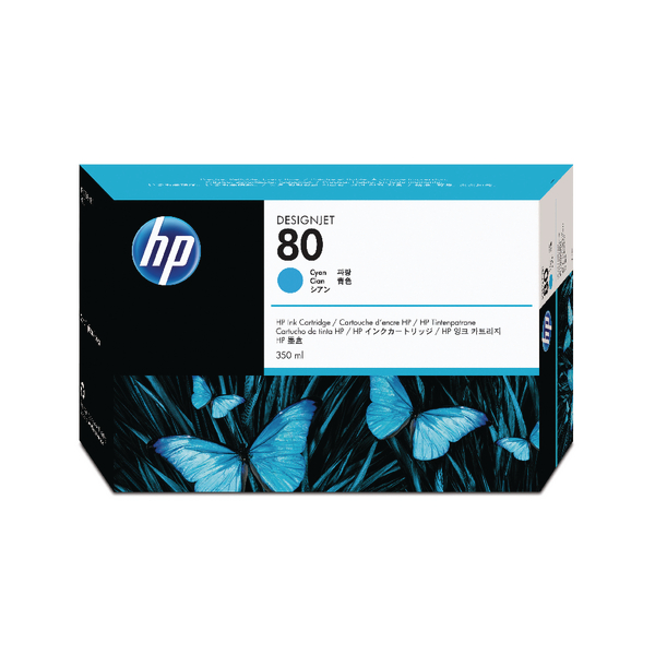 HP 80 Cyan Inkjet Print Cartridge C4846A