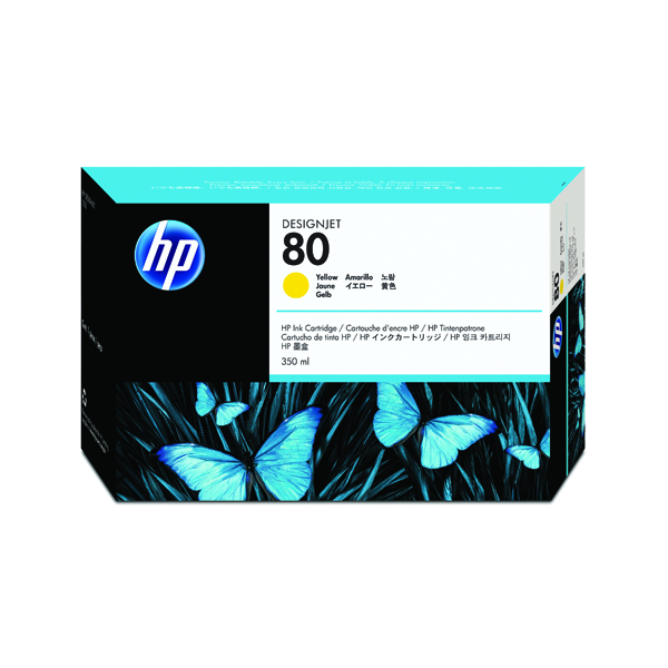 HP 80 Yellow Inkjet Cartridge 350ml C4848A