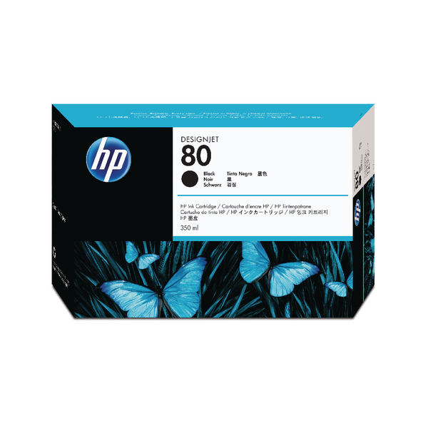 HP 80 Black Inkjet Cartridge 350ml C4871A