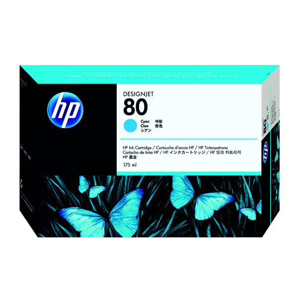 HP 80 Cyan Inkjet Print Cartridge C4872A