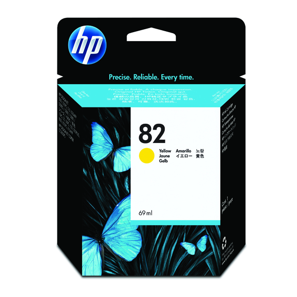 HP 82 Yellow Inkjet Cartridge (High Yield, 69ml) C4913A