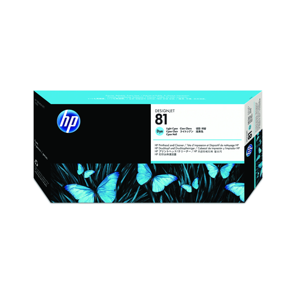HP 81 Light Cyan Dye Printhead and Cleaner C4954A