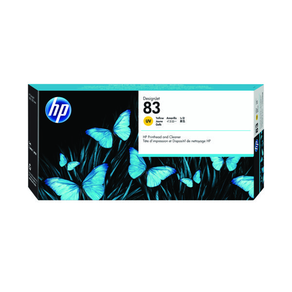 HP 83 Yellow UV Printhead and Cleaner C4963A