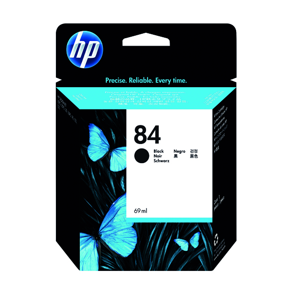 HP 84 Black Designjet Inkjet Cartridge C5016A