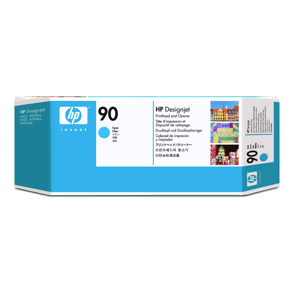 HP 90 Cyan Printhead and Cleaner C5055A