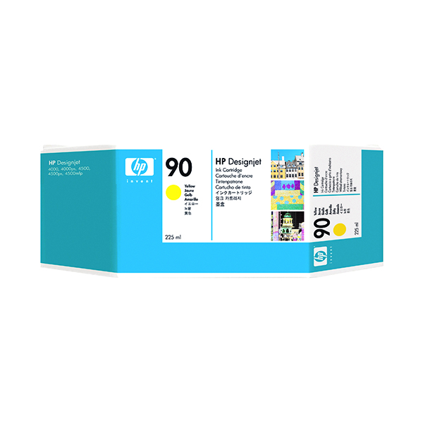 HP 90 Yellow Inkjet Cartridge (Standard Yield, 225ml) C5064A