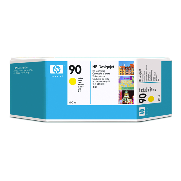 HP 90 Yellow Inkjet Cartridge High Yield 400ml C5065A