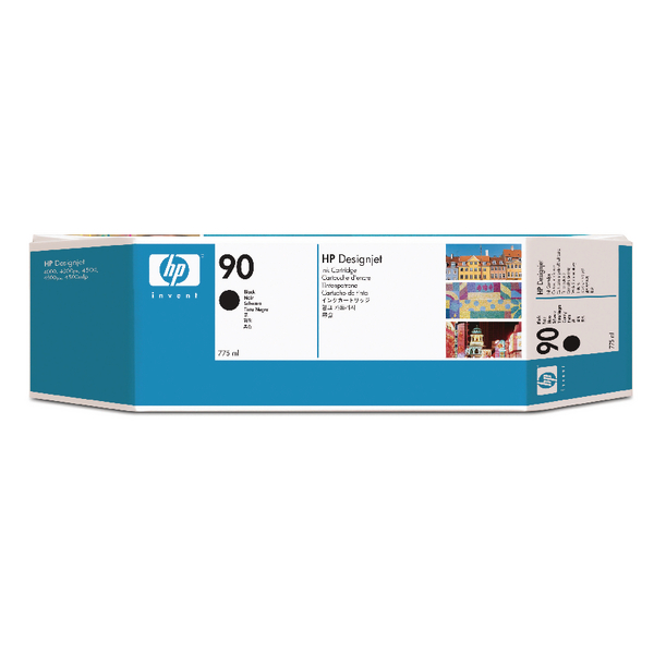 HP 90 High Yield Black Inkjet Print Cartridge (Pack of 3) C5095A