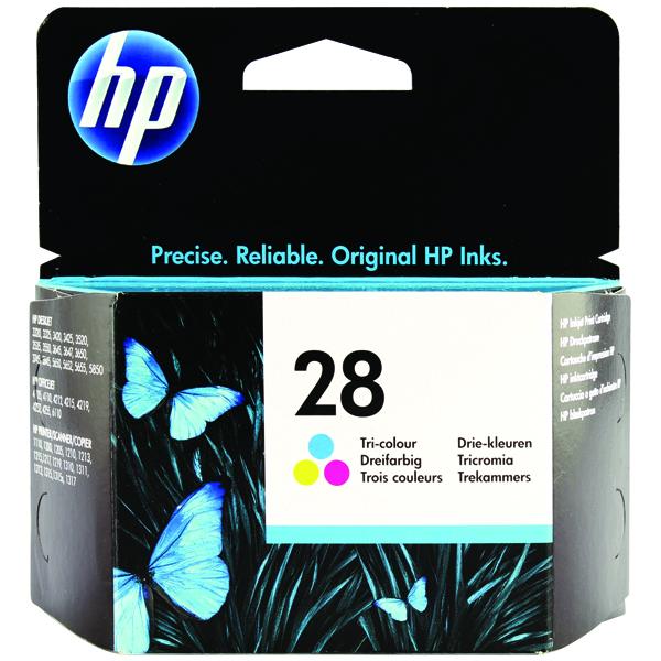 HP 28 Cyan/Magenta/Yellow Inkjet Cartridge C8728AE