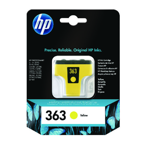 HP 363 Yellow Inkjet Cartridge C8773EE