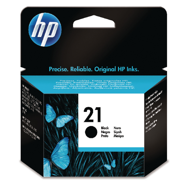 HP 21 Black Inkjet Cartridge Standard Yield 5ml C9351AE