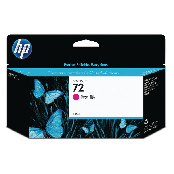 HP 72 Magenta Ink Cartridge (High Yield, 130ml Capacity) C9372A