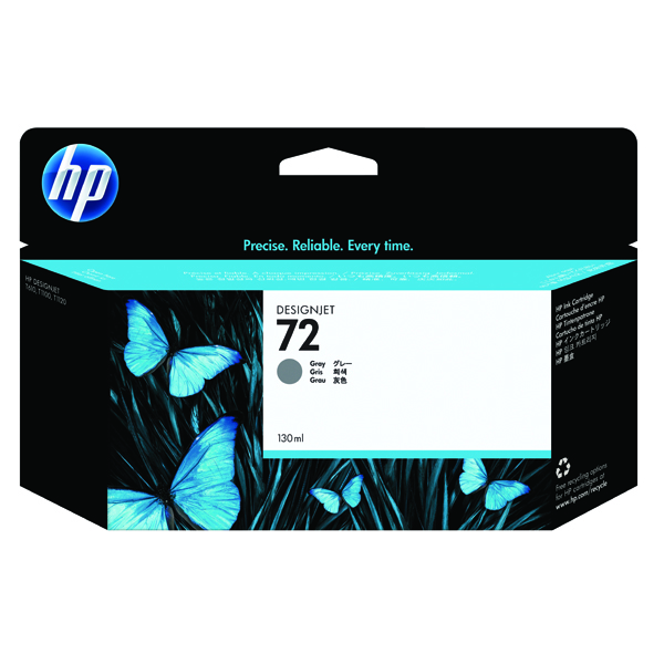 HP 72 Grey Ink Cartridge (High Yield, 130ml Capacity) C9374A