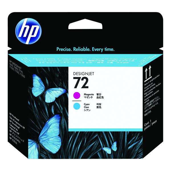 HP 72 Magenta/Cyan Printhead (Genuine HP Product) C9383A
