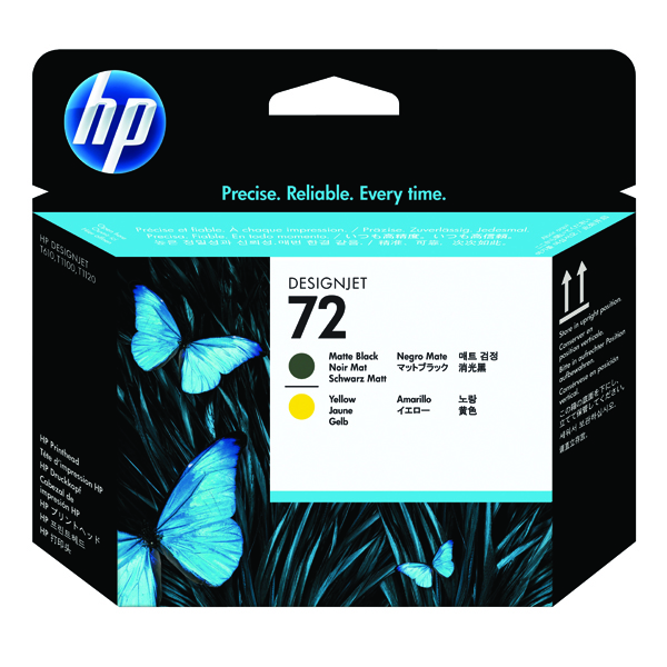 HP 72 Yellow/Matte Black Printhead C9384A