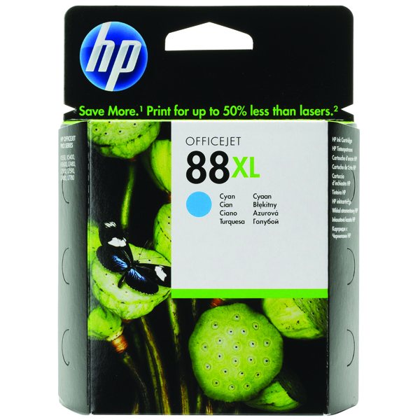 HP 88XL High Yield Cyan Inkjet Cartridge (Capacity: 1200 pages) C9391AE
