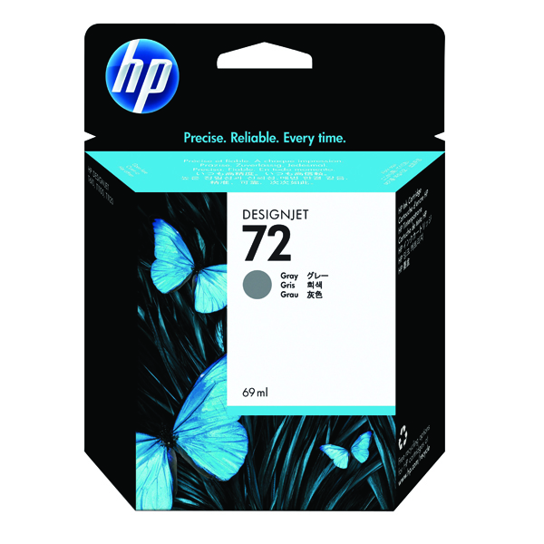 HP 72 Grey Ink Cartridge (Standard Yield, 69ml Capacity) C9401A