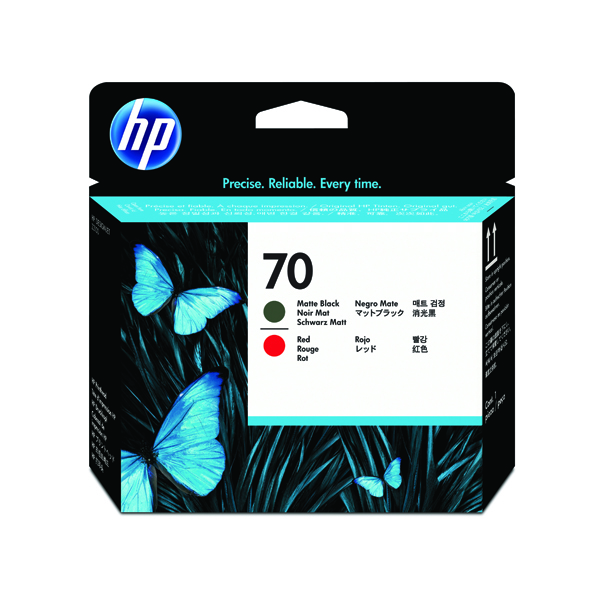 HP 70 Black/Red Printhead Twin Pack C9409A