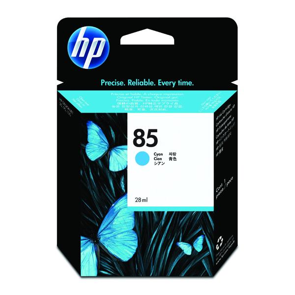 HP 85 Cyan Inkjet Cartridge (Standard Yield, 28ml, 550 Page Capacity) C9425A