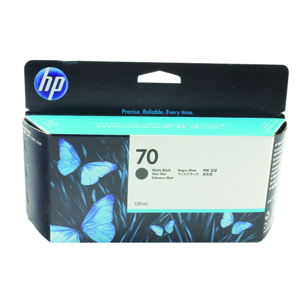 HP 70 Black Inkjet Cartridge (High Yield, 130ml) C9448A
