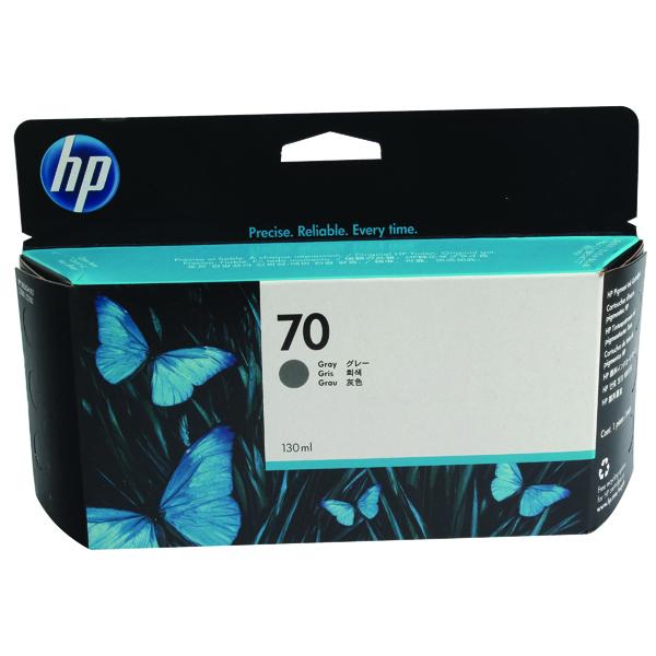 HP 70 Grey Inkjet Cartridge (Standard Yield, 130ml, 4,400 Page Capacity) C9450A