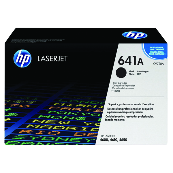 HP 641A Black Laserjet Toner Cartridge C9720A