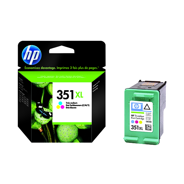 HP 351XL Cyan/Magenta/Yellow High Yield Inkjet Cartridge CB338EE