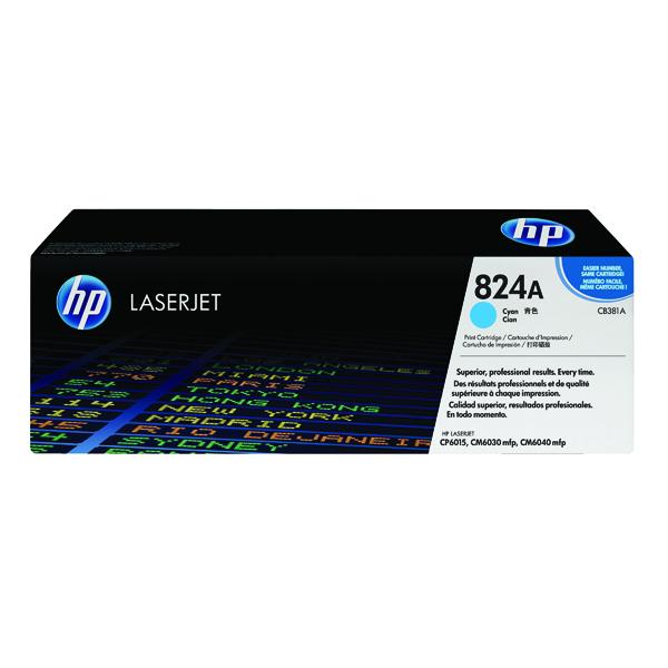 HP 824A Laserjet Cyan Toner Cartridge CB381A