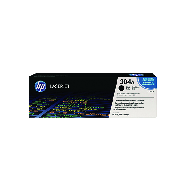 HP 304A Black Laserjet Toner Cartridge (Pack of 2) CC530AD