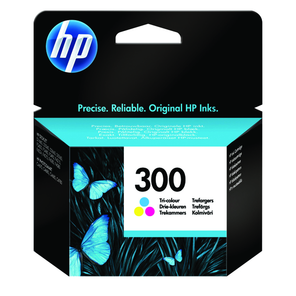 HP 300 Cyan/Magenta/Yellow Inkjet Cartridge CC643EE
