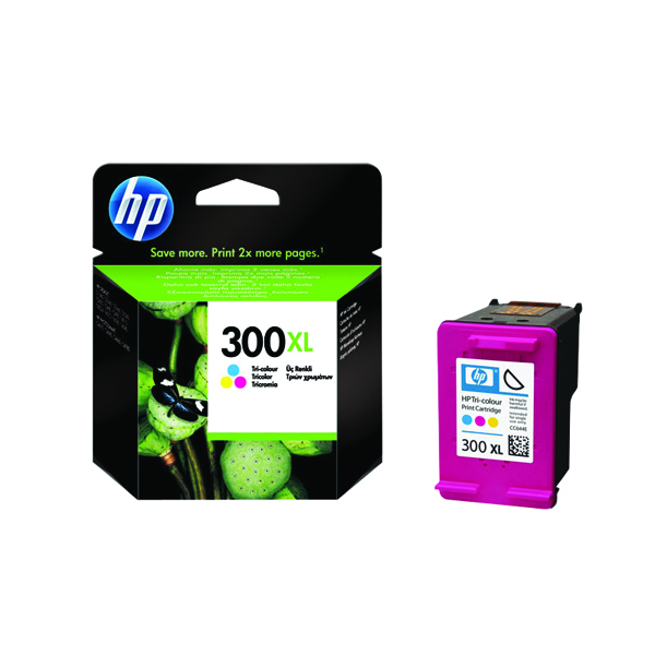 HP 300XL Cyan/Magenta/Yellow High Yield Inkjet Cartridge CC644EE