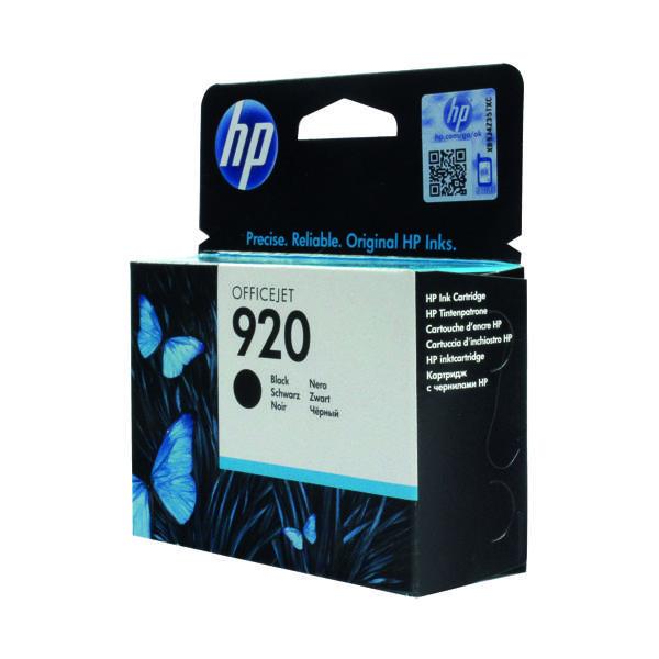 HP 920 Black Ink Cartridge (Standard Yield, 10ml Capacity) CD971AE