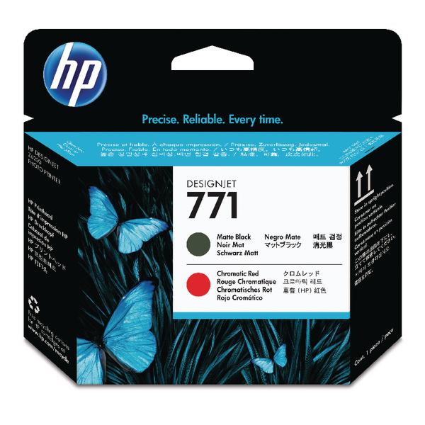 HP 771 Matte Black /Red Designjet Printhead CE017A