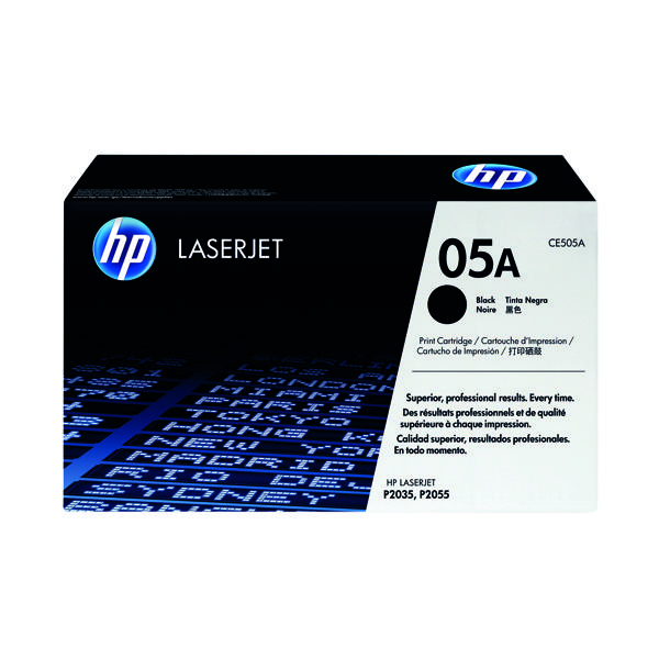 HP 05A Black Laserjet Toner Cartridge CE505A