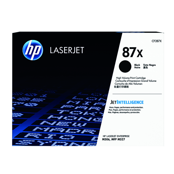 HP 87X High Yield Black Laserjet Toner Cartridge CF287X