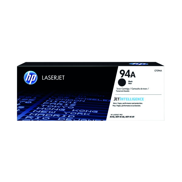 HP 94A Toner Cartridge Black (1,200 Page Capacity) CF294A