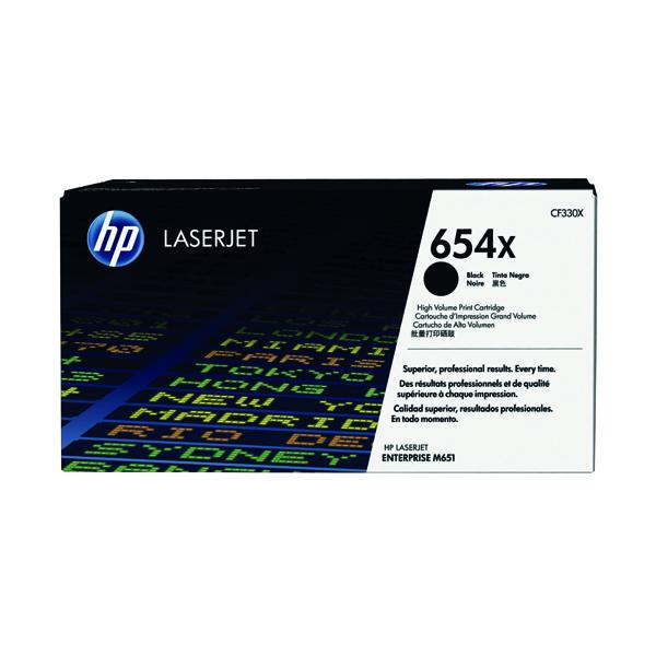HP 654X Black High Yield Laserjet Toner Cartridge CF330X