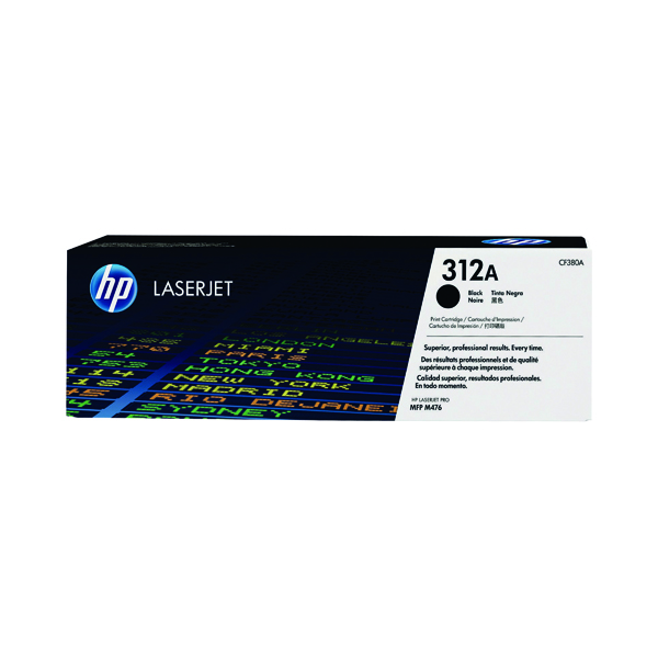 HP 312A Black Laserjet Toner Cartridge CF380A