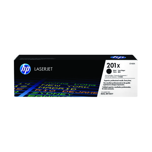 HP 201X High Yield Black Laserjet Toner Cartridge (Pack of 2) CF400XD