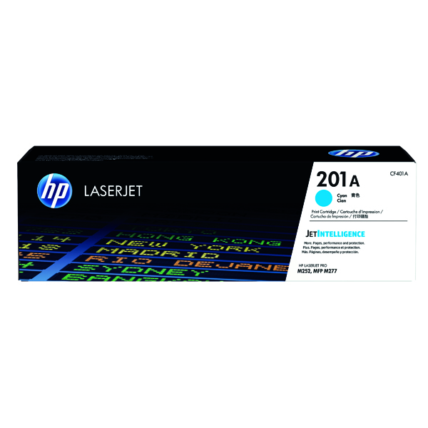 HP 201A Cyan Laserjet Toner Cartridge CF401A