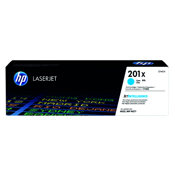 HP 201X Cyan High Yield Laserjet Toner Cartridge CF401X