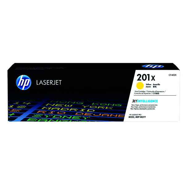 HP 201X Yellow High Yield Laserjet Toner Cartridge CF402X