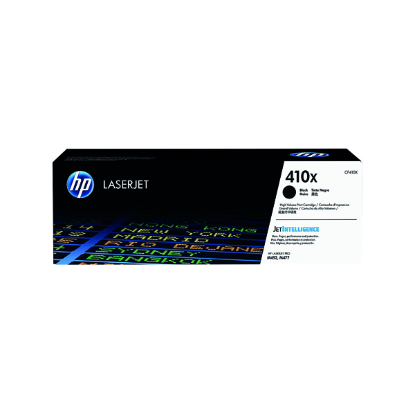 HP 410X High Yield Black Laserjet Toner Cartridge CF410X