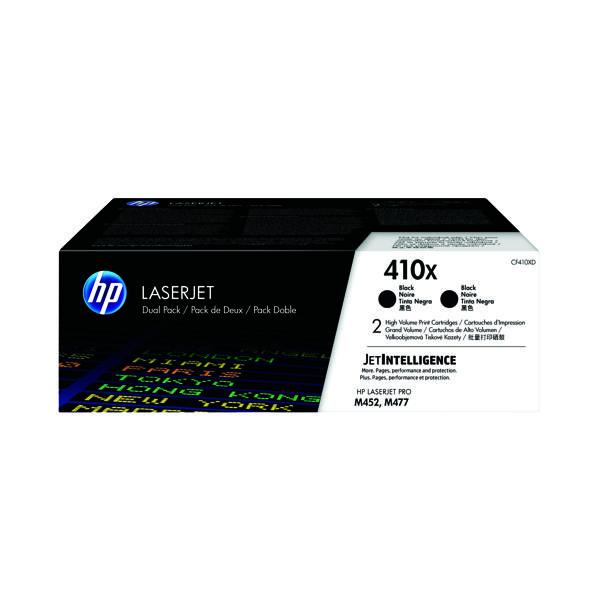 HP 410X High Yield Black Laserjet Toner Cartridge (Pack of 2) CF410XD