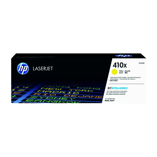 HP 410X High Yield Yellow Laserjet Toner Cartridge CF412X